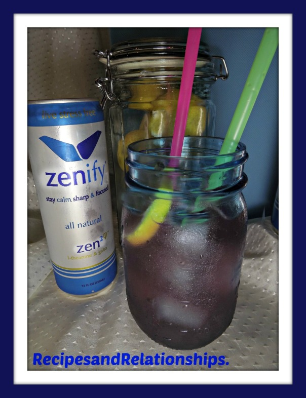 zenify with drink straws glass